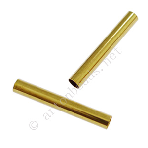 *Tube - 18k Gold Plated - ID 3.2mm - 20pcs