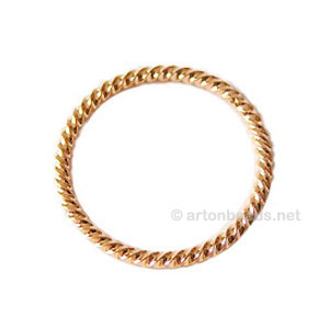 Metal Link - 18k Gold Plated - 30mm - 5pcs