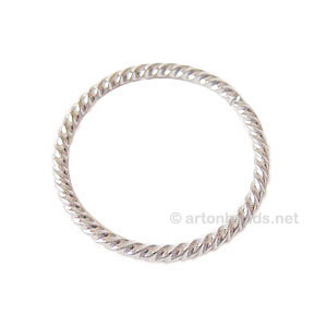 Metal Link - 925 Silver Plated - 30mm - 8pcs
