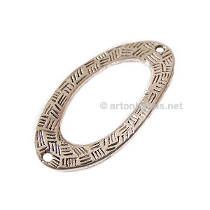 Metal Link - Antique Silver Plated - 36.4x18.5mm - 6pcs