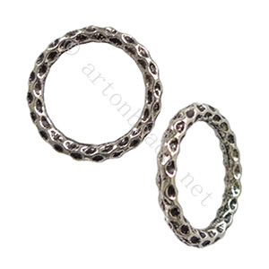 Metal Link - Antique Silver Plated - 24mm - 5pcs