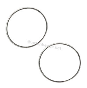 Metal Link - 925 Silver Plated - 22mm - 30pcs