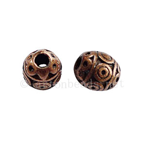 Metal Bead - Antique Copper Plated - 6.7x5.6mm - 12pcs