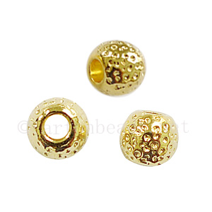 Metal Bead - 18k Gold Plated - 6.1x6.8mm - 20pcs