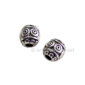 Metal Bead - Antique Silver Plated - 6.4x6.2mm - 30pcs