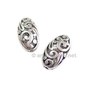 Metal Bead - Antique Silver Plated - 18.6x10mm - 3pcs