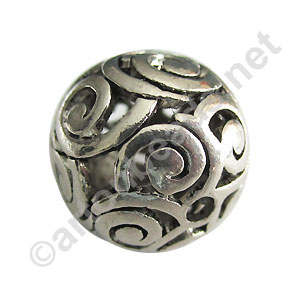 Metal Beads - Antique Silver Plated - 23.6mm - 2pcs