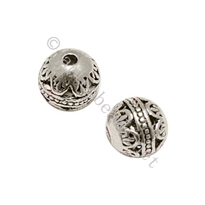 Metal Bead - Antique Silver Plated - ID 1.6mm - 6pcs