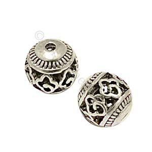 Metal Bead - Antique Silver Plated - ID 2mm - 6pcs