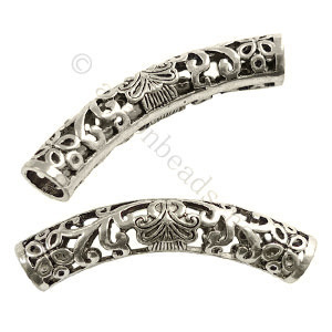 *Tube - Antique Silver Plated - ID 6mm - 3pcs