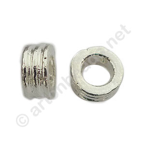 Large Hole Metal Bead - 4x8mm - 8pcs