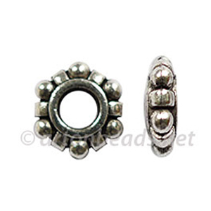 Large Hole Metal Bead - 3.5x11mm - 15pcs