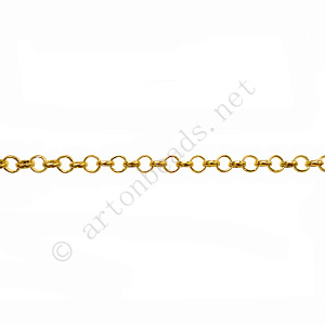 Chain(JBL2.0) - 18K Gold Plated - 2.0x2.0mm - 2m - Click Image to Close
