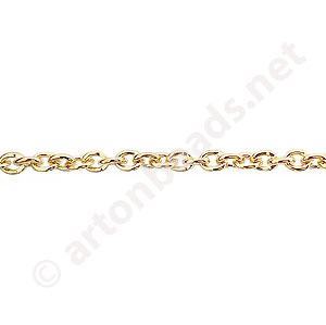 *Chain(J0.7+) - 18K Gold Plated - 3.1x4.2mm - 2m