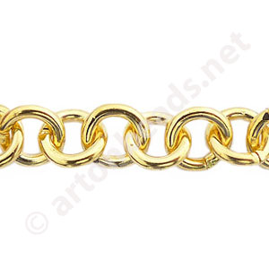 Chain(SH375) - 18K Gold Plated - 10mm - 1m