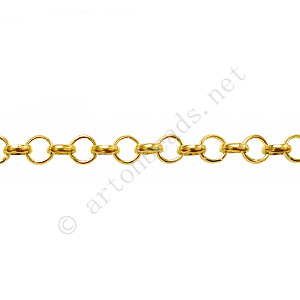 Chain(BL3.8) - 18K Gold Plated - 3.8x3.8mm - 1m