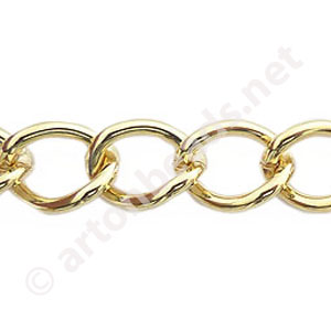 *Chain(2.0SBSH) - 18K Gold Plated - 10.8x13.8mm - 1m