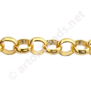 Chain(8.0BLS) - 18K Gold Plated - 8mm - 1m
