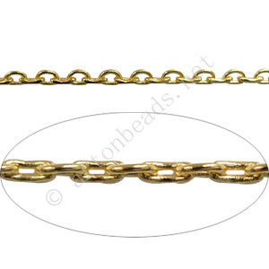 Chain(J260LAS) - 18K Gold Plated - 2.3x5.3mm - 1m