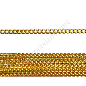 Chain(160SF) - 18K Gold Plated - 2x2mm - 2m