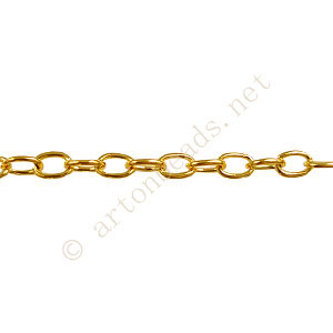 Chain(J0.8+) - 18K Gold Plated - 3.7x4.6mm - 2m