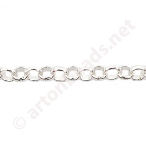 Chain(JBL4.8) -925 Silver Plated - 5x5mm - 1m