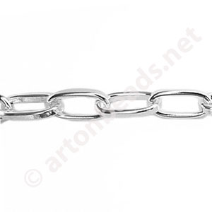 *Chain(216CS) - 925 Silver Plated - 5.7x11.3mm - 1m