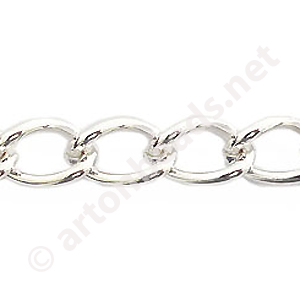 *Chain(2.0SBSH) -925 Silver Plated - 9.1x13.8mm - 1m