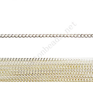 *Chain(145SF) - 925 Silver Plated - 1.45x1.8mm - 2m
