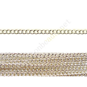Chain(160SF) - 925 Silver Plated - 2x2mm - 2m