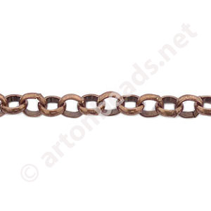 *Chain(BL4.8) - Antique Copper Plated - 4.8x4.8mm - 1m