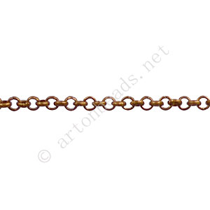 Chain(JBL2.5) - Antique Copper Plated - 2.5x2.5mm - 2m