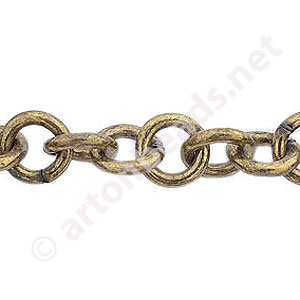 Chain(SH375) - Antique brass Plated - 10mm - 1m