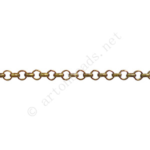 Chain(JBL2.5) - Antique brass Plated - 2.5x2.5mm - 2m