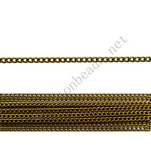 Chain(145SF) - Antique brass Plated - 1.45x1.8mm - 2m