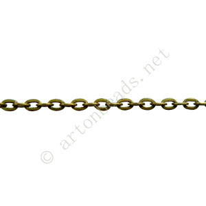 Chain(J0.6F+) - Antique brass Plated - 2.2x3.2mm - 2m
