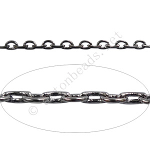 Chain(J260LAS) - Gun Metal Plated - 2.3x5.3mm - 1m