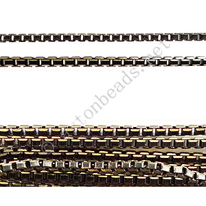 Colored Metal Chain(V1.5) - Black - 1.5mm - 1m