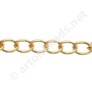 *Chain(Y1908) - 18K Gold Plated - 5.8x8.2mm - 1m