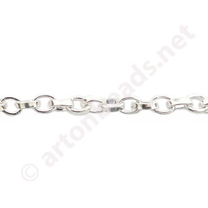 Chain(Y1919) - 925 Silver Plated - 3.6x4.7mm - 2m