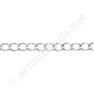 Chain(Y2104) -925 Silver Plated - 3.3x5.0mm - 2m