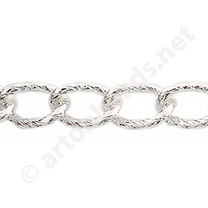 Chain(Y15303) -925 Silver Plated - 8.4x13mm - 1m