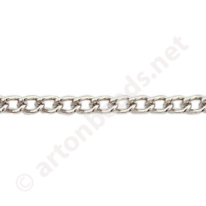 Chain(Y2103) -White Gold Plated - 3.1x4.6mm - 2m