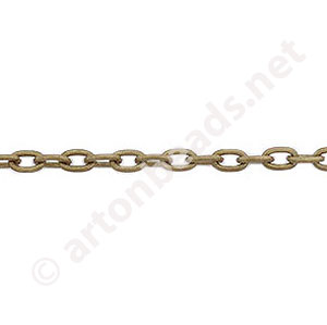 Chain(J0.8+ ) - Antique brass Plated - 3.1x4.3mm - 2m