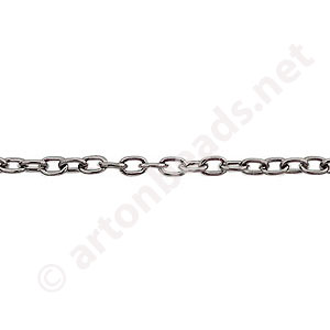 Chain(Y2301) - Gun metal Plated - 2.3x3.4mm - 2m