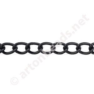 Chain(Y1802) -Pure Black Plated - 5.5x8.1mm - 2m