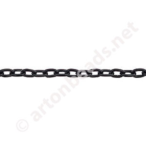 Chain(Y2105) - Pure Black Plated - 3.1x4.3mm - 1m