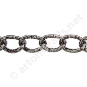 Chain(Y15303) - Gun Metal Plated - 8.4x13mm - 1m