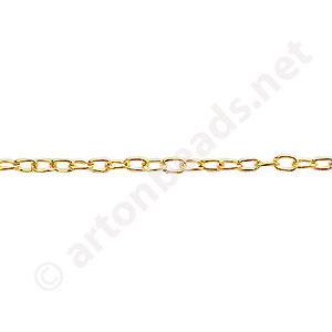 Chain(J0.6+A) - 18K Gold Plated - 2.1x2.9mm - 2m