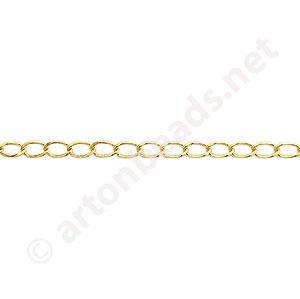 Chain(J140LBF) - 18K Gold Plated - 2.2x3.0mm - 2m